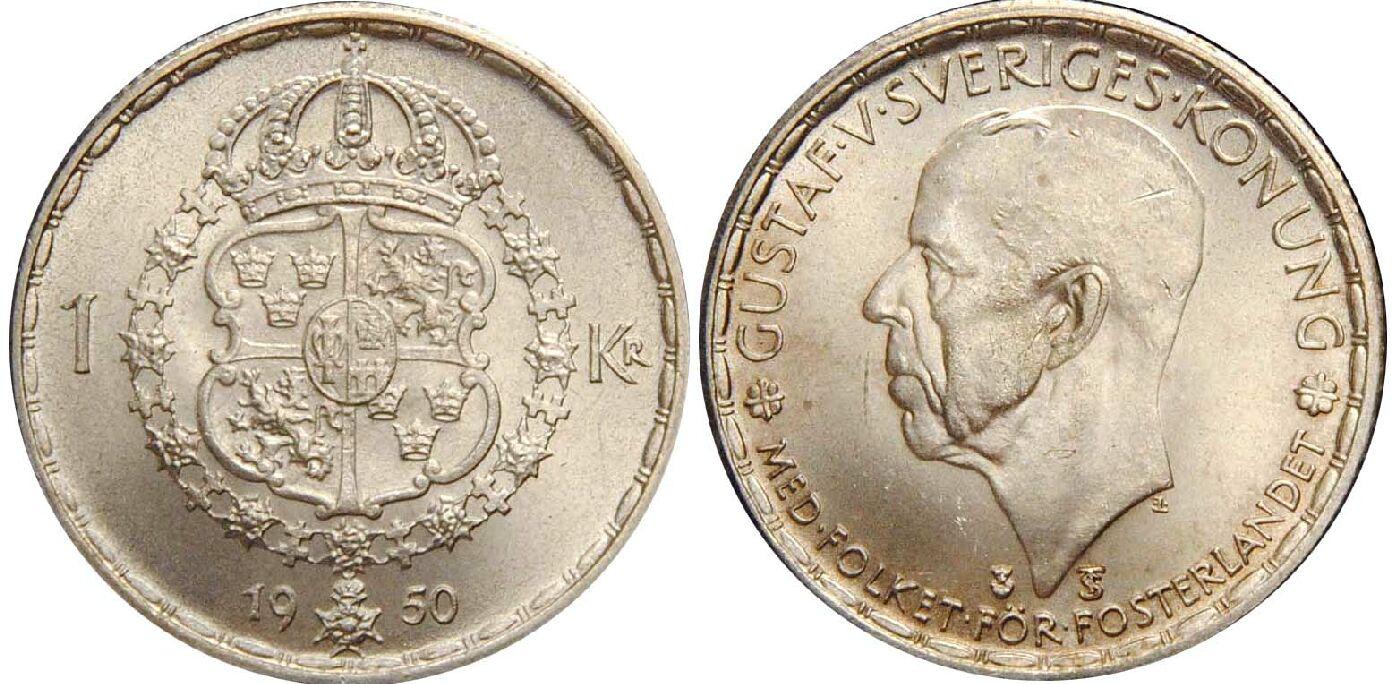 Монета 1 крона 1978 года - швеция - карл xvi густав